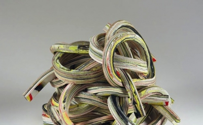 Margie Livingston, Eight Knotted Strips in a Pile. 2010