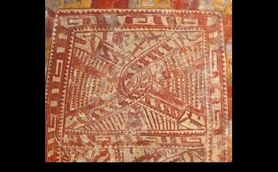 Painted Panel, Mexico, Oaxaca/Guerrero border region, 1200–1400, detail, courtes