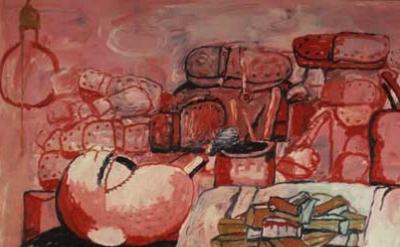 Philip Guston, Painting, Smoking, Eating, 1973, detail