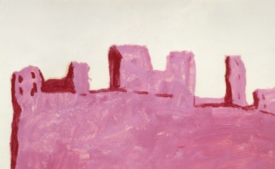 Philip Guston. Tuscan City, 1971, Oil on paper, detail
