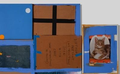 """Rochelle Feinstein, """"Happy Birthday x Rachel,"""" 2009, detail"""