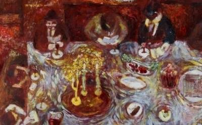 Seima Horvitz, Seima's Family Seder, undated, detail