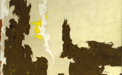 Clyfford Still, painting, 1948, detail