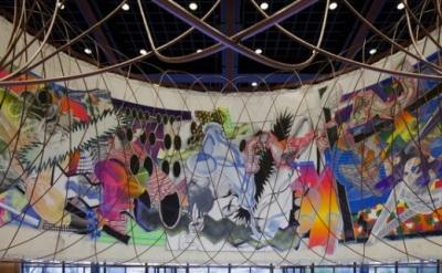 Frank Stella & Santiago Calatrava Mural Collaboration