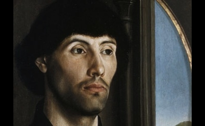 Hugo van der Goes: Portrait of a Man, ca. 1475, detail