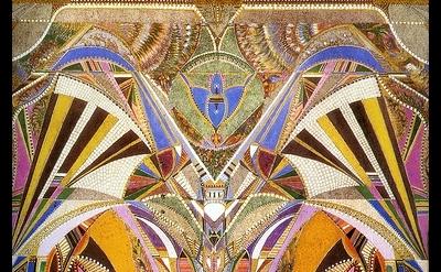 Augustin Lesage, painting, detail