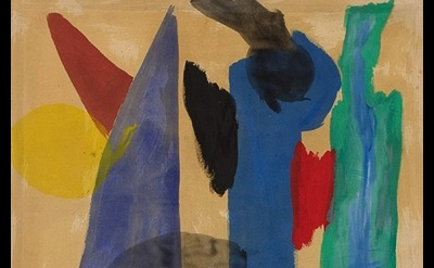Mali Morris: Angel and People 1979, Acrylic on Canvas, detail