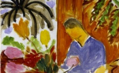 Henri Matisse, Petit Interieur a la table de Marbre Ronde, detail