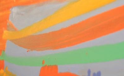 Albert Irvin painting, detail