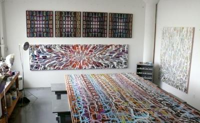 Amy Ellingson studio view