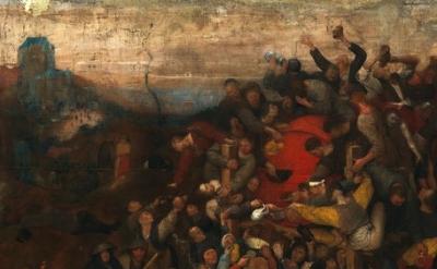 Pieter Bruegel the Elder, The Wine of St. Martin's Day - detail