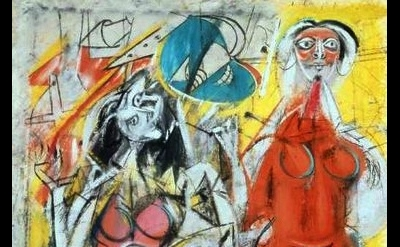 Willem de Kooning painting detail