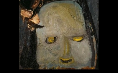 Eva Hesse painting, detail