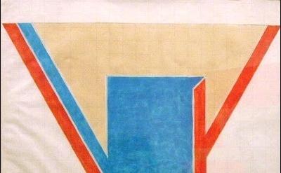 Frank Stella polygon painting
