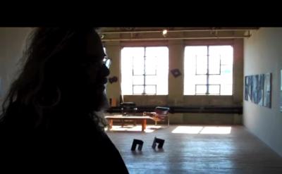 Jonathan Waters in his studio