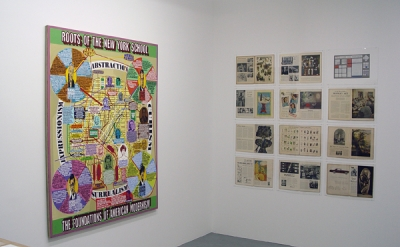 Loren Munk painting and Life Magazine spreads