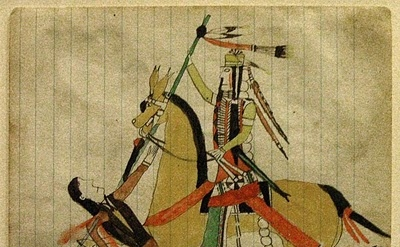 Native American Ledger Drawing