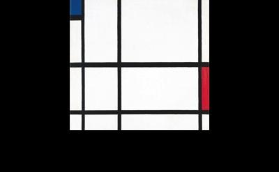 Piet Mondrian, painting detail