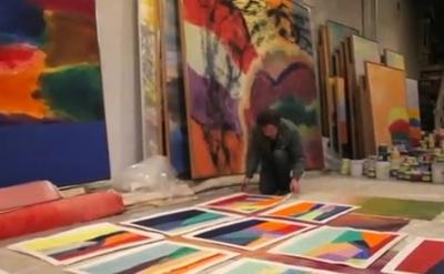 Ronnie Landfield in studio