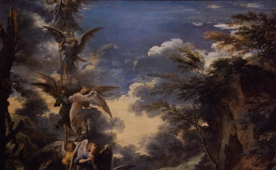 Salvator Rosa, Jacob's Dream, detail