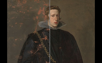Velázquez, Portrait of Philip IV, detail