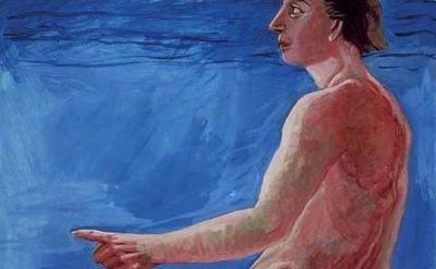 Charles Garabedian painting, detail