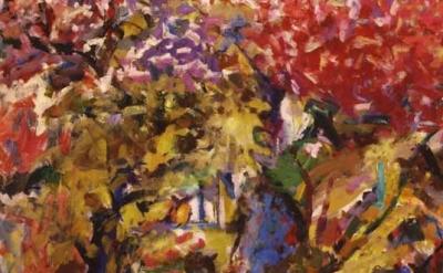 Louis Finkelstein painting, detail