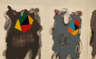 Peter Plagens, painting installation