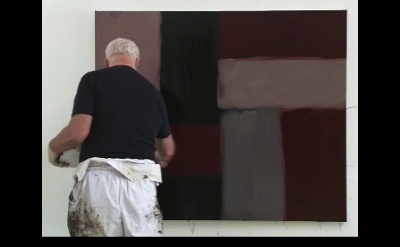 Sean Scully in the studio