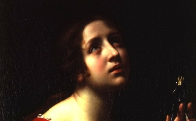 Carlo Dolci painting, detail