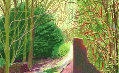 David Hockney iPhone painting detail