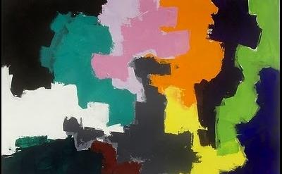 Heimo Zobernig painting, detail