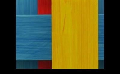 Imi Knoebel painting, detail