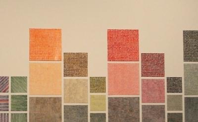 Jennifer Bartlett painting installation