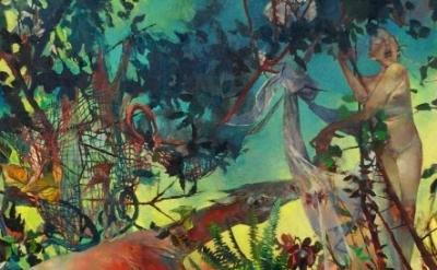 Jennifer Meanley painting, detail