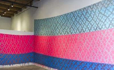 Judy Ledgerwood painting, installation