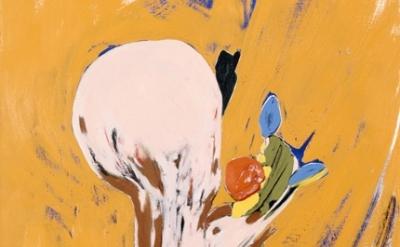 Nicola Tyson painting, detail
