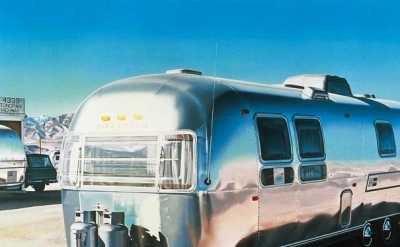 Ralph Goings painting, detail