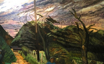 Carel Weight, Country Lane, detail
