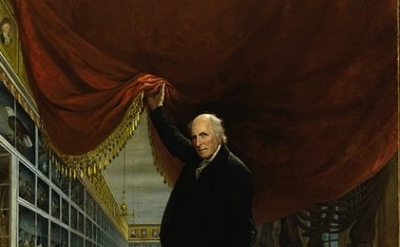 Charles Wilson Peale, The Artist in his Museum, 1822, detail