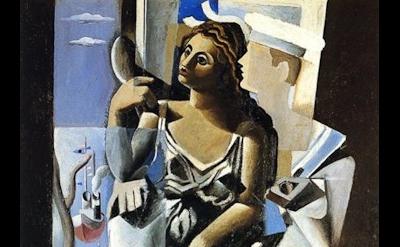 Salvador Dalí, Venus and a Sailor: Homage to Salvat-Papasseit, oil on canvas, 19