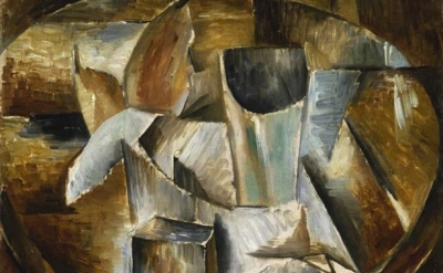 Georges Braque, Glass on a Table, 1909–10, oil on canvas. Tate, London, detail
