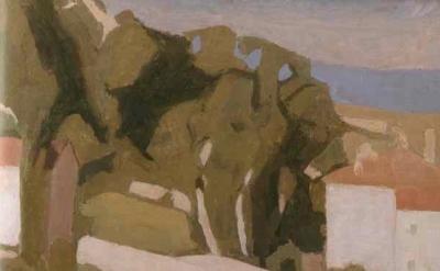 Giorgio Morandi, Landscape painting, detail