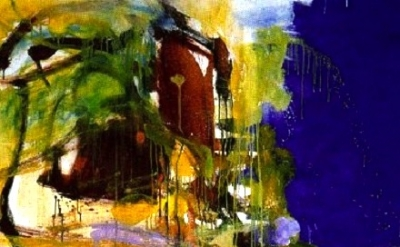 Joan Mitchell, Blue Territory, detail