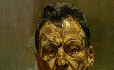 Lucian Freud, Self-portrait, detail