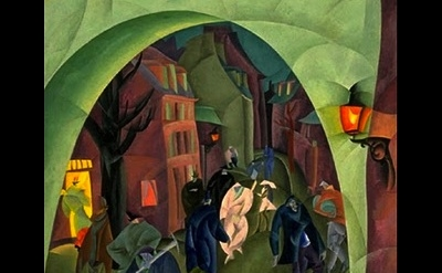 Lyonel Feininger, Green Bridge, detail