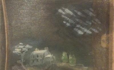 Merlin James, Night, 2011, detail