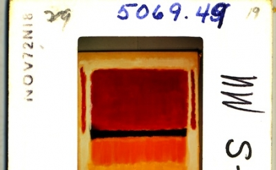 Slide of a Mark Rothko painting