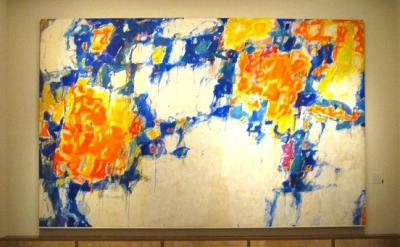 """Sam Francis, """"Basel Mural I,"""" 1956-58 Oil on canvas, photo: Kim Mackey"""