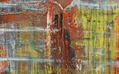 Gerhard Richter painting, detail